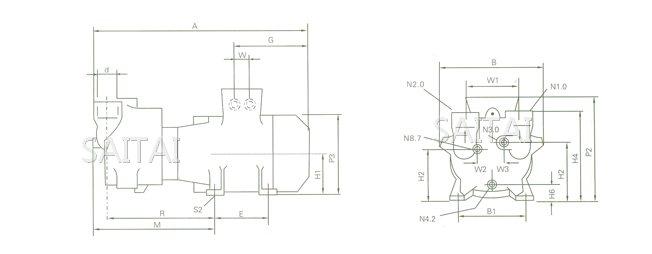 ska系列水环式真空泵结构图1